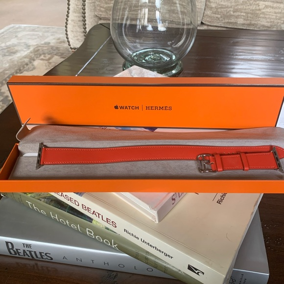 Hermès Red Double Tour Apple Watch Band 38mm